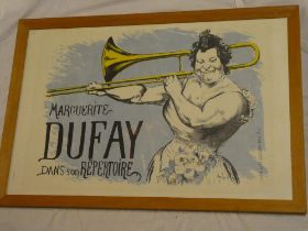 """A coloured limited edition theatrical print """"Marguerite Dufay dans Son Repertoire"""" after L Anquetin,"""