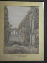"R**Phene - watercolour ""St Josephs Chapel Glastonbury"", signed and dated 1876,"