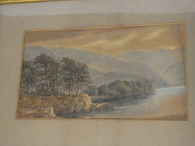 W**J**Boddy - watercolour River scene, signed and dated 1887,
