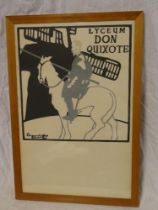 """A coloured limited edition theatrical print """"Lyceum don Quixote"""" after Beggarstaff,"""