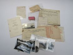 A box containing mixed railway paperwork to include tickets, luggage labels,