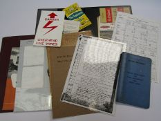 A quantity of mixed paperwork relating to signalling, handbooks, instrument paperwork,