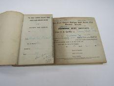 A GER staff social club, Norwich Share certificate book 1- 251.