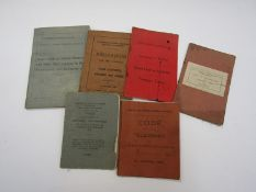 Six GER and LNER instruction books to include Train Examiners, Gangers,