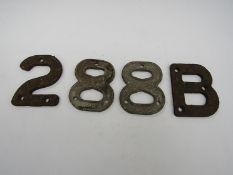 Point identification sleeper mounted cast iron numbers 288B