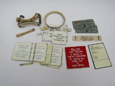 A quantity of mixed traffolyte labels to include Telephone Notices,