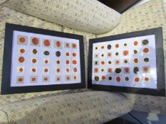 A pair of framed and glazed sets of wax seals