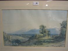 After John Gully (1819-1888), view of Mount Egmont, North Island, NZ,