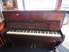 A Challen upright piano, registered design 808334,
