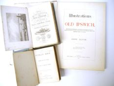 John Glyde: 'Illustrations of Old Ipswich, 1889, 1st edition, 12 plates as called for, folio,