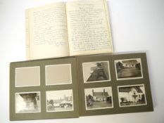 Norfolk interest ephemera, a snapshot photograph album 1929-1931,