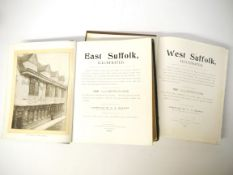 H R Barker: 'West Suffolk, Illustrated - East Suffolk, Illustrated', Bury St Edmunds, Pawsey,