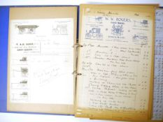 A collection of 80+ mainly Norwich and Norfolk related billheads/bills circa 1860's-1930's,