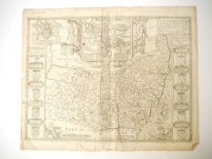 John Speed: 'Suffolk described and divided into hundreds [Suffolk]', engraved map, London,