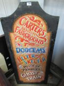 A hand painted sign,