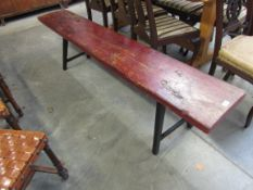 A 19th Century rustic timber bench,
