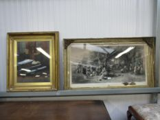 Two glazed and gilt frame pictures