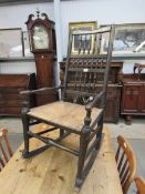 A 19th Century spindle-back rocking chair