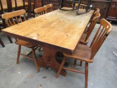 A country pine refectory table