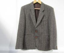 "A gents ""Stromberg"" label wool grey and brown herringbone single breasted jacket"