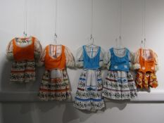Tyrollean style costumes designed and made by Ann Galbraith for the BBC in the 1970's using
