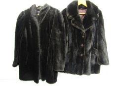 Two ladies faux fur jackets