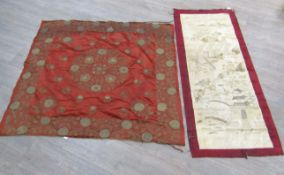Two Chinese silk textiles,