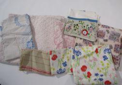 A quantity of mainly Laura Ashley fabric remnants and a piece of Indian cotton fabric etc