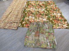 """A pair of Sanderson curtains """"Parfait"""" design, 80cm pleated heading wide x 130cm drop,"""