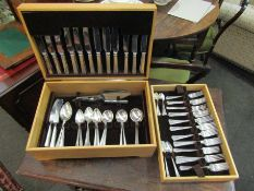 A 12 place canteen of silver plated cutlery