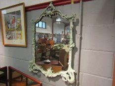 A Rococo style mirror a/f