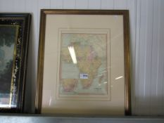 A 19th Century map of Africa by William Collins & Sons,