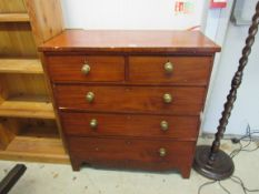 A Victorian two over three chest of drawers,