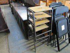 A set of four laboratory stools