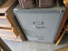 A Bisley two drawer filing cabinet