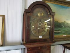 A Victorian 8-day grandfather clock,
