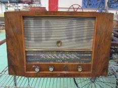 A 1940's Pye Fenman II walnut cased radio