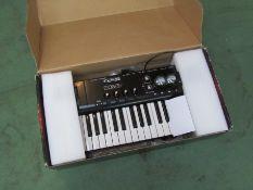 A Line 6 POD Studio KB37 MIDI keyboard with digital recording interface,