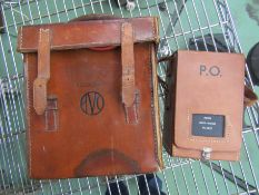 A leather cased Avo Meter and a PO meter (2)