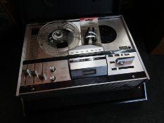 A Grundig TK121 reel to reel tape recorder