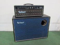 A Selmer treble and bass 50 watt valve amplifier,