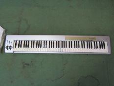 An M-Audio Keystation 88 USB/MIDI keyboard controller