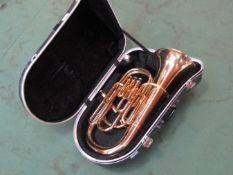 An Amati Kraslice brass euphonium,