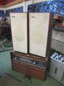 A Rigonda Bolshoi Stereo Multiplex radiogram and a pair of floorstanding speakers