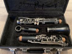 An Earlham Bb clarinet, serial number T25019,