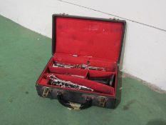 A Boosey & Hawkes Regent hardwood clarinet,