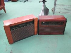 Two Kolster-Brandes wooden cased radios