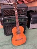 A Kimbara classical acoustic guitar