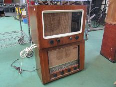 Two Pye wooden cased radios