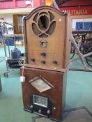 Two wooden cased radios including Kolster-Brandes